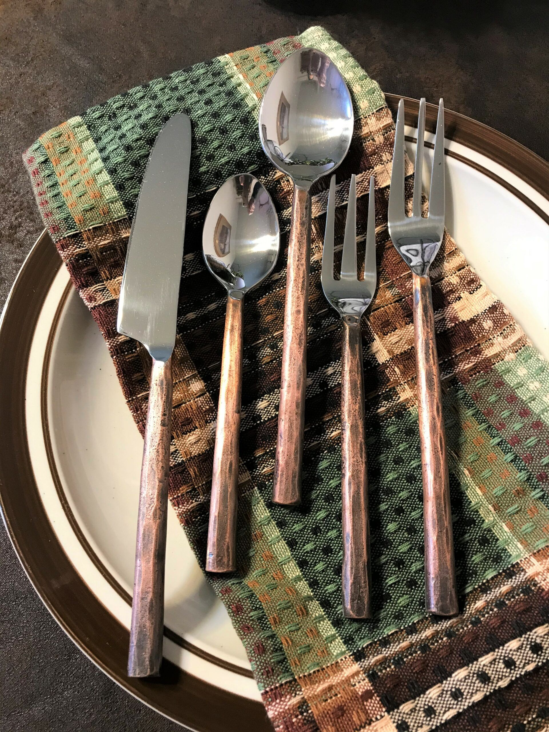 Copper Handled Flatware Rustic Silverware in 2020 (With