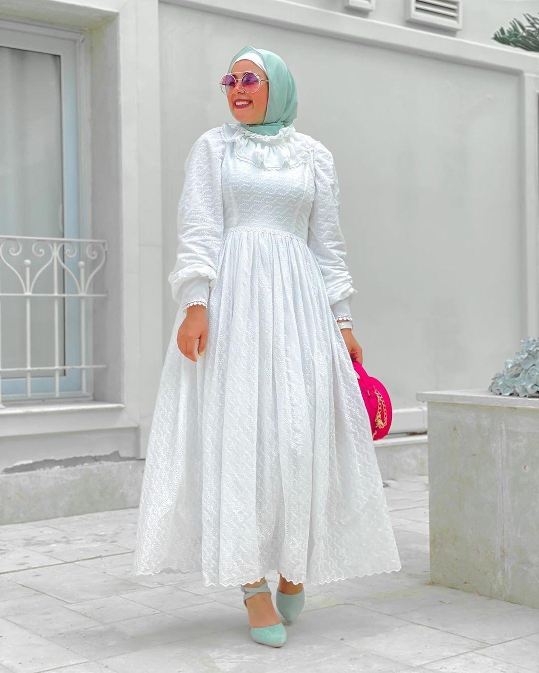 الابيض Fashion Hijab
