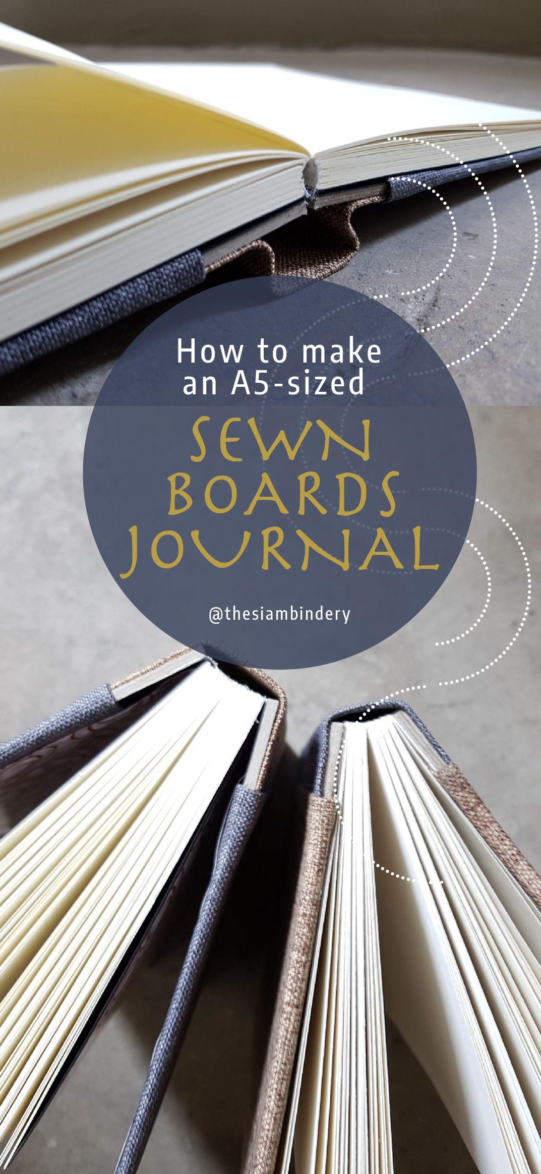Sewn Boards Binding Tutorial Etsy in 2020 Book binding