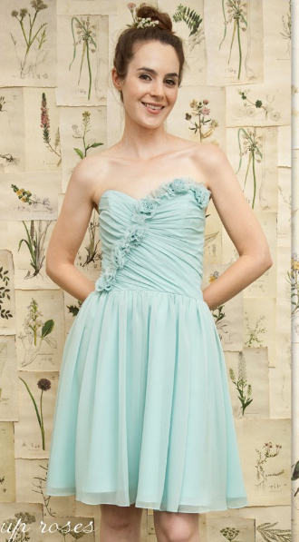 This Light Blue Dress Is For A Summer Skin Tone Summer Tones Usually Have Tan Or Someti Knee Length Bridesmaid Dresses Bridesmaid Dresses Pale Skin Hair Color