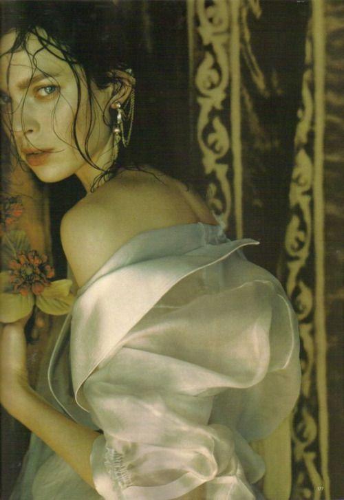 Elise Crombez photographed by Javier Vallhonrat for Vogue UK June 2008