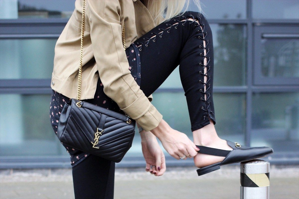 Gucci Slingback Loafers and Topshpo Jamie Lace up Skinny Jeans on fashion  bloge