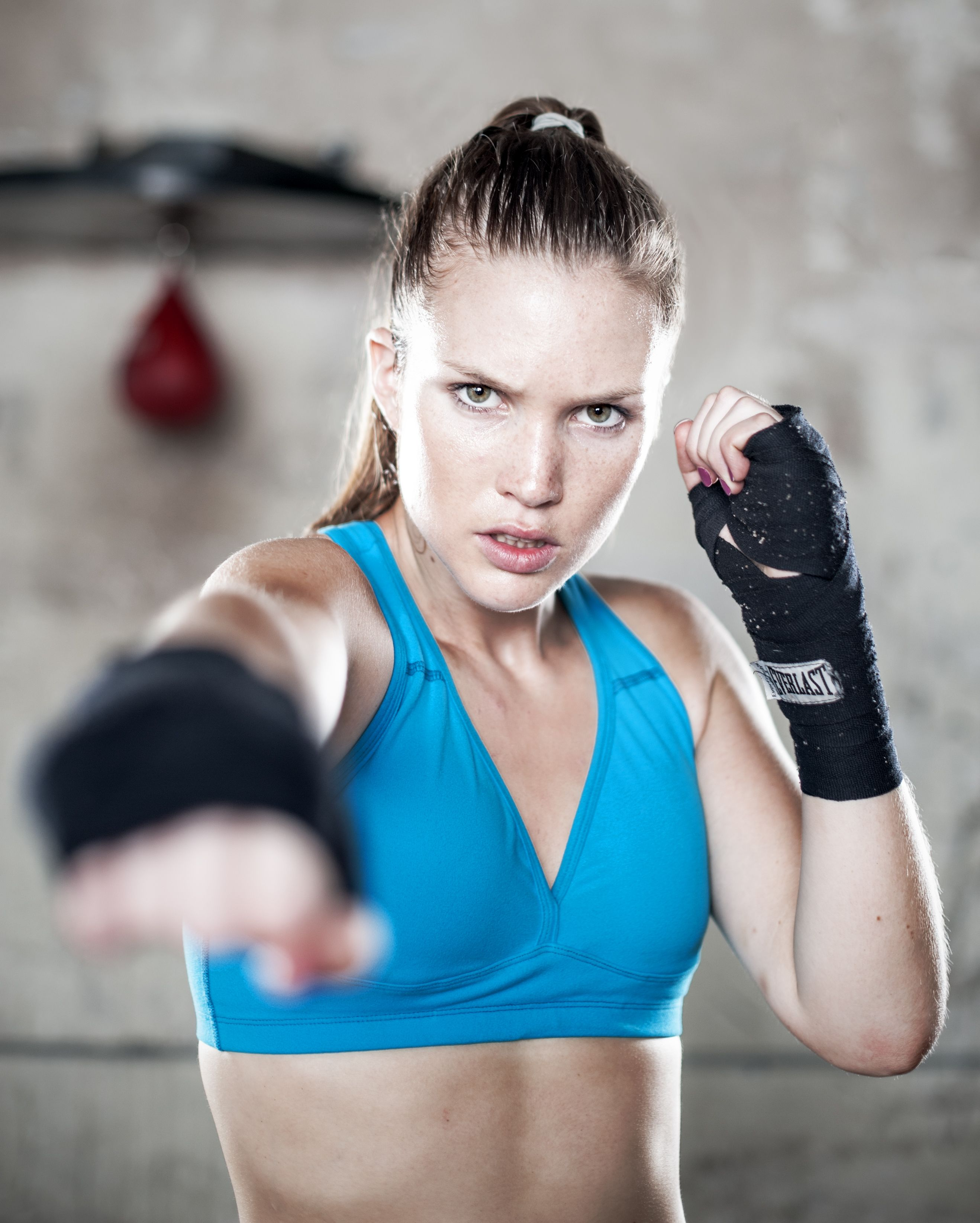 Professional - Commercial Boxing Photos of female boxer at ...