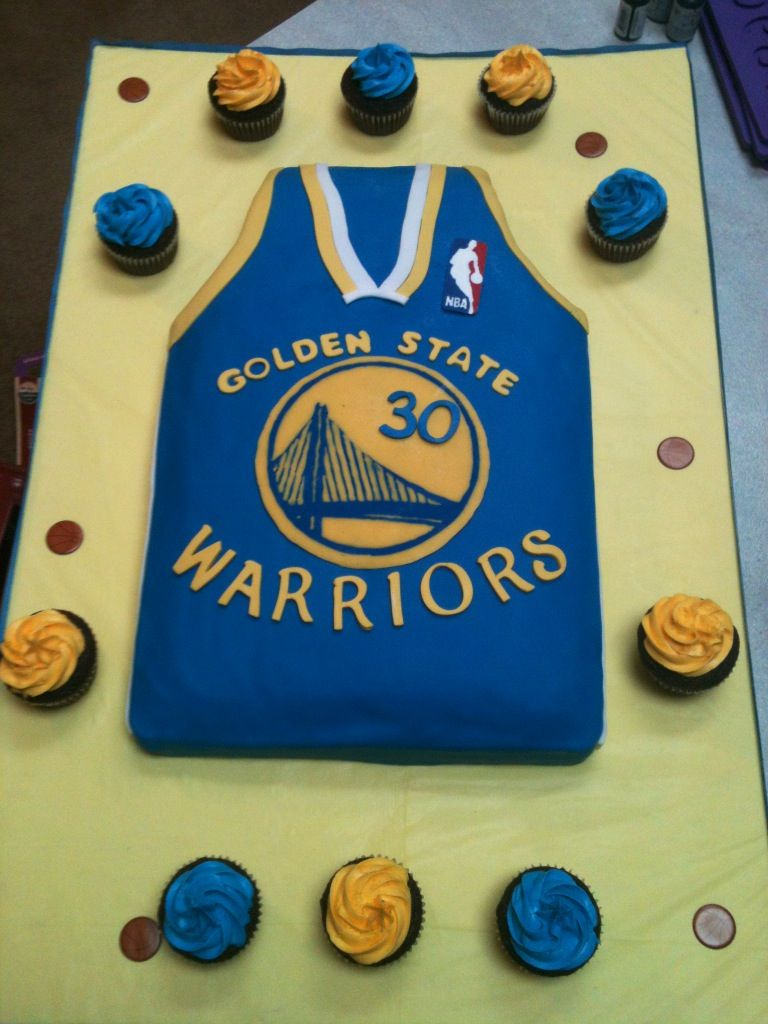 low priced 784c6 dc6a5 Golden State Warriors jersey cake by Jen Kwasniak | MY ...