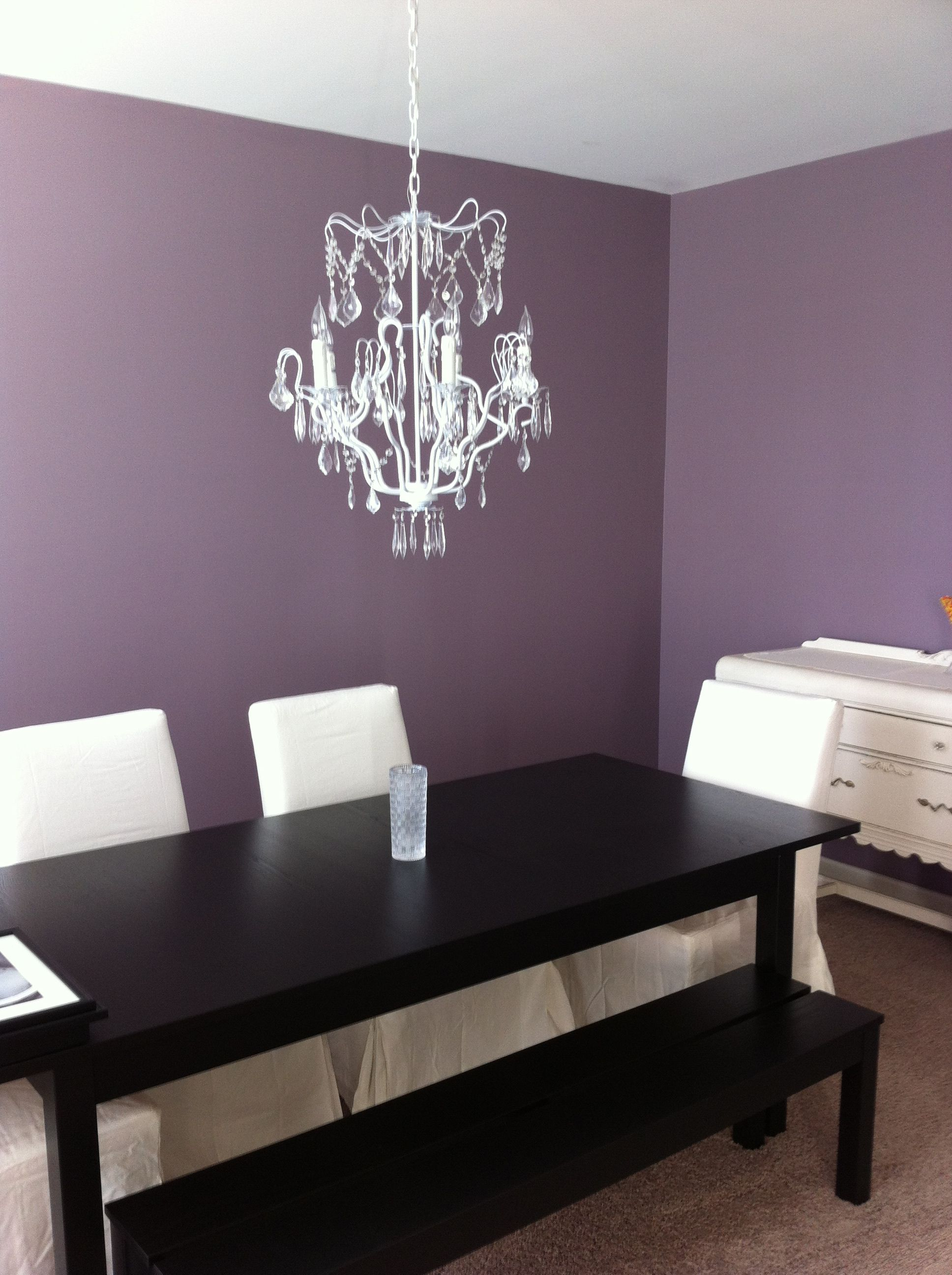 Kitchen Living Room And Dining Room Together Purple Dining Room It 39s Coming Together Dining Room