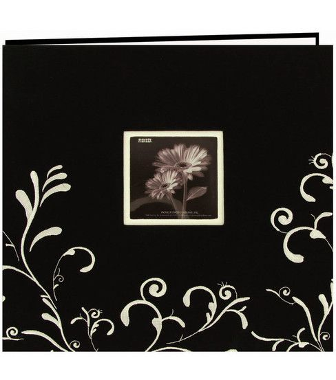 Pioneer 12x12 Embroidered Postbound Album Black Products