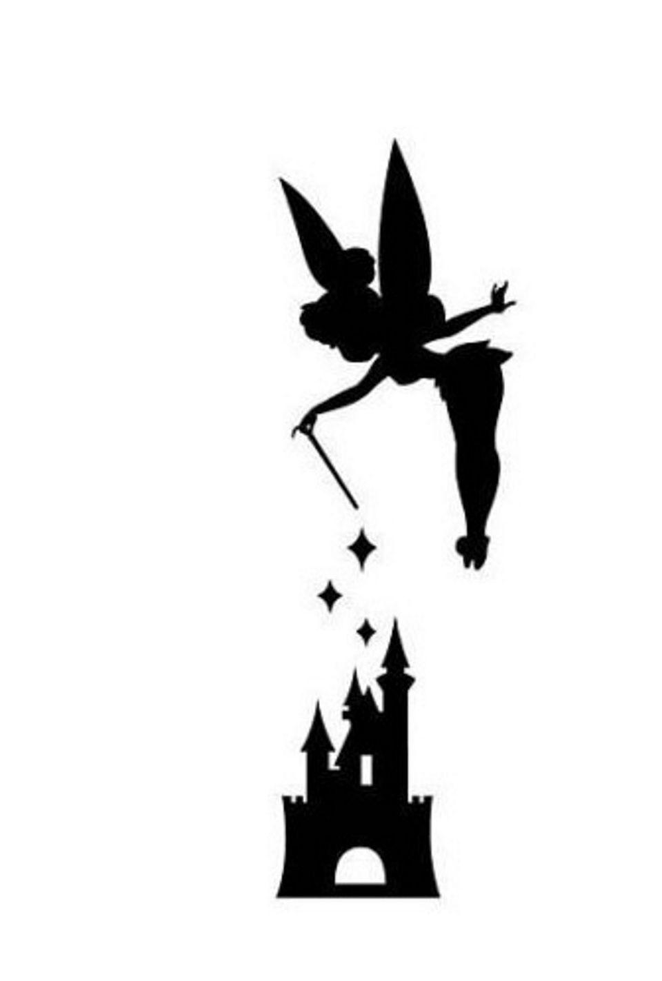 Disney Peter Pan Tink Tinkerbell Castle Pumpkin Carving Disney Stencils Disney Stencils Disney Silhouettes