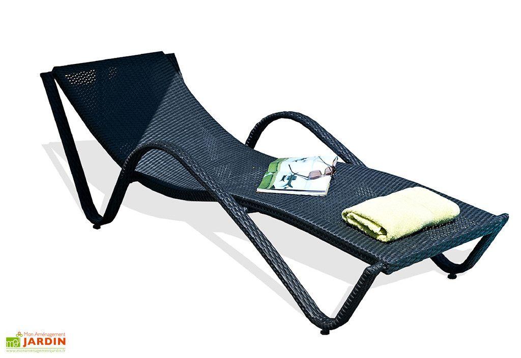 Chaise Longue En Aluminium Et Resine Tressee Liberte Chaise Longue Chaise Bain De Soleil