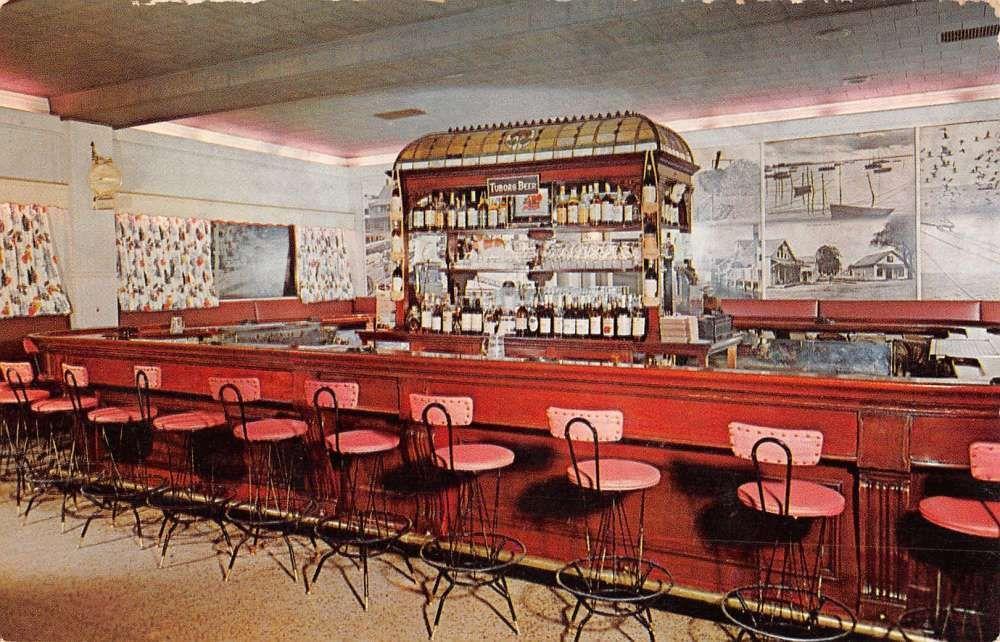 Greenport Long Island New York Mitchells Restaurant Vintage Postcard ...