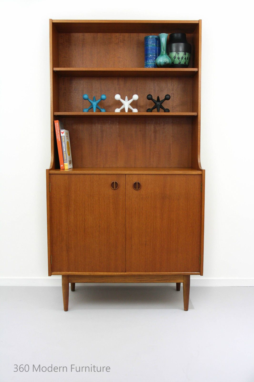 Mid Century Sideboard Shelving Bookcase Parker Nordic Wall Unit Retro Vintage In Home Garden
