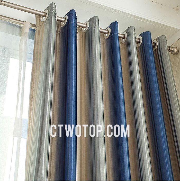 Pin by George Spain on Home | Pinterest | Blue striped curtains ...