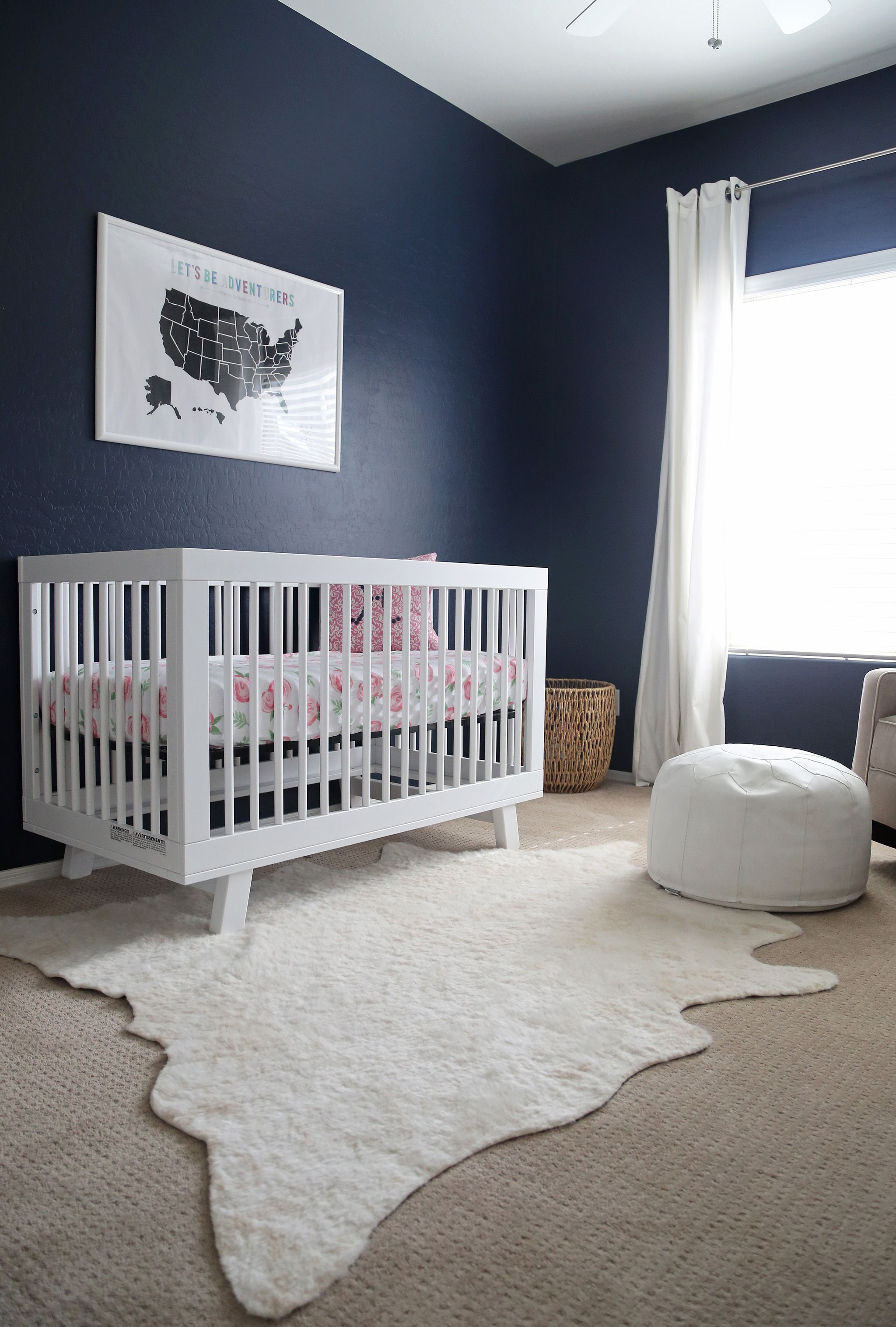 We Love Seeing Navy Blue In A Nursery S Bedroom Furniture Baby