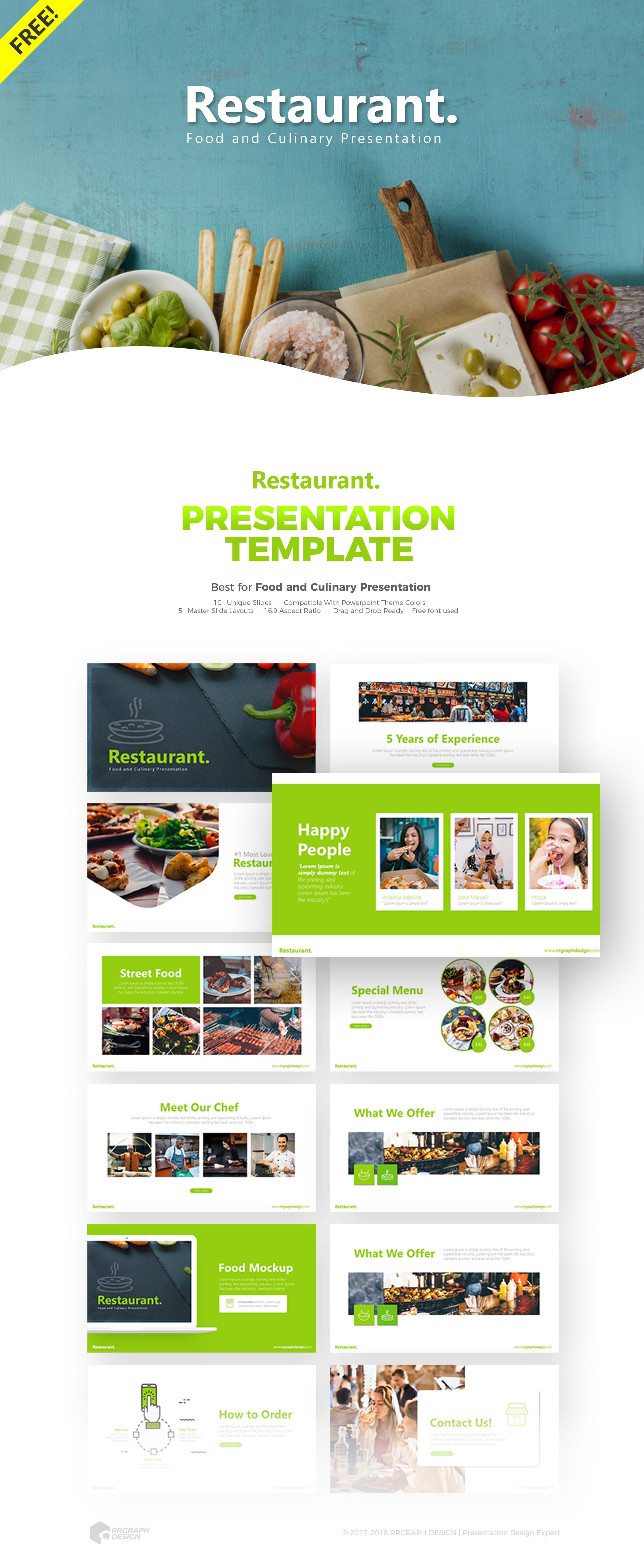 Restaurant Presentation Template Powerpoint Template Free Powerpoint Design Templates Free Powerpoint Templates Download