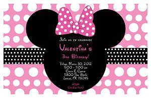 Minnie Mouse invite idea