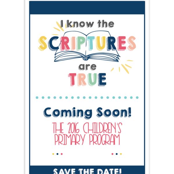 2016 LDS Primary Program Invites   LDS Church   Pinterest