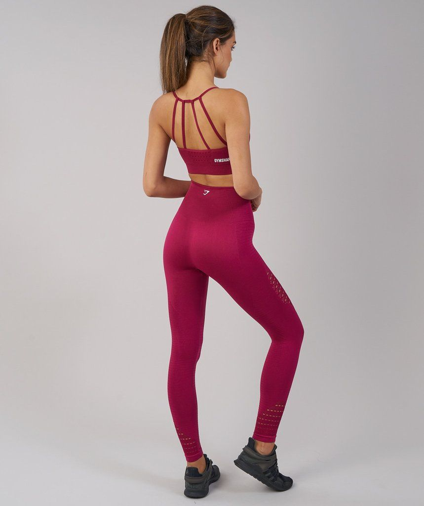 490ad6d6e9d3b0 I'm a small in gymshark leggings. these are not top priority. Gymshark  Energy Seamless High Waisted Leggings - Beet 2