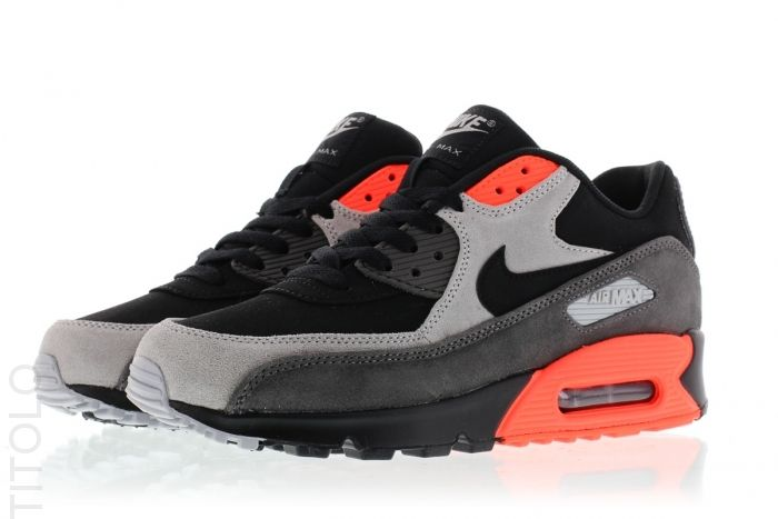 Nike Air Max 90 Leather Premium BlackBlack Medium Ash