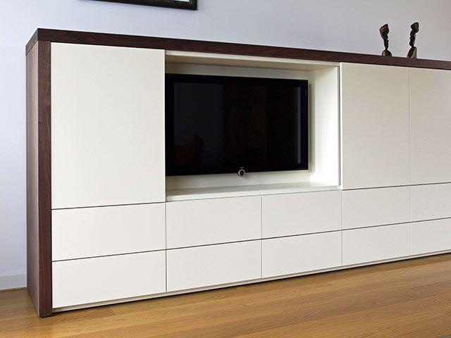 Led Verlichting Kast : Tv kast op maat met schuifdeuren vitrine met led verlichting mm