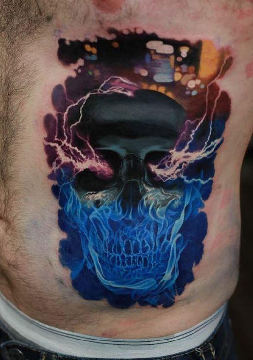 Electric Eye Tattoo : electric, tattoo, Electric, Skull, Tattoo, InkStyleMag, Tattoos, Guys,, Tattoos,