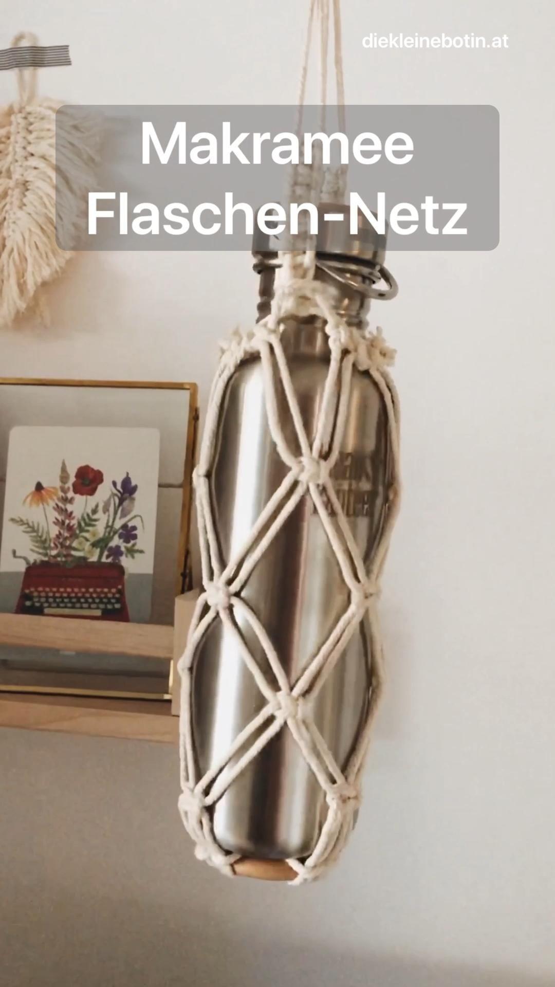 Photo of Makramee Flaschen-Netz | Schritt-für-Schritt-Anleitung