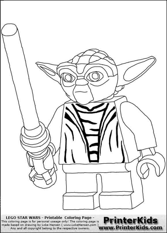 Printerkids Images Coloringpages Png Lego Star Wars Yoda 007