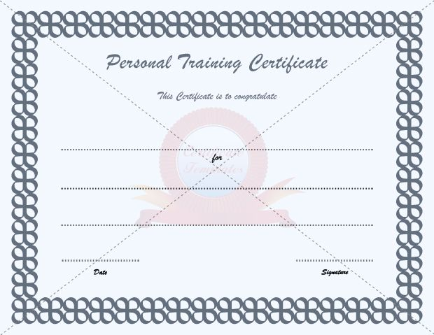Personal Training  Physical Education Template