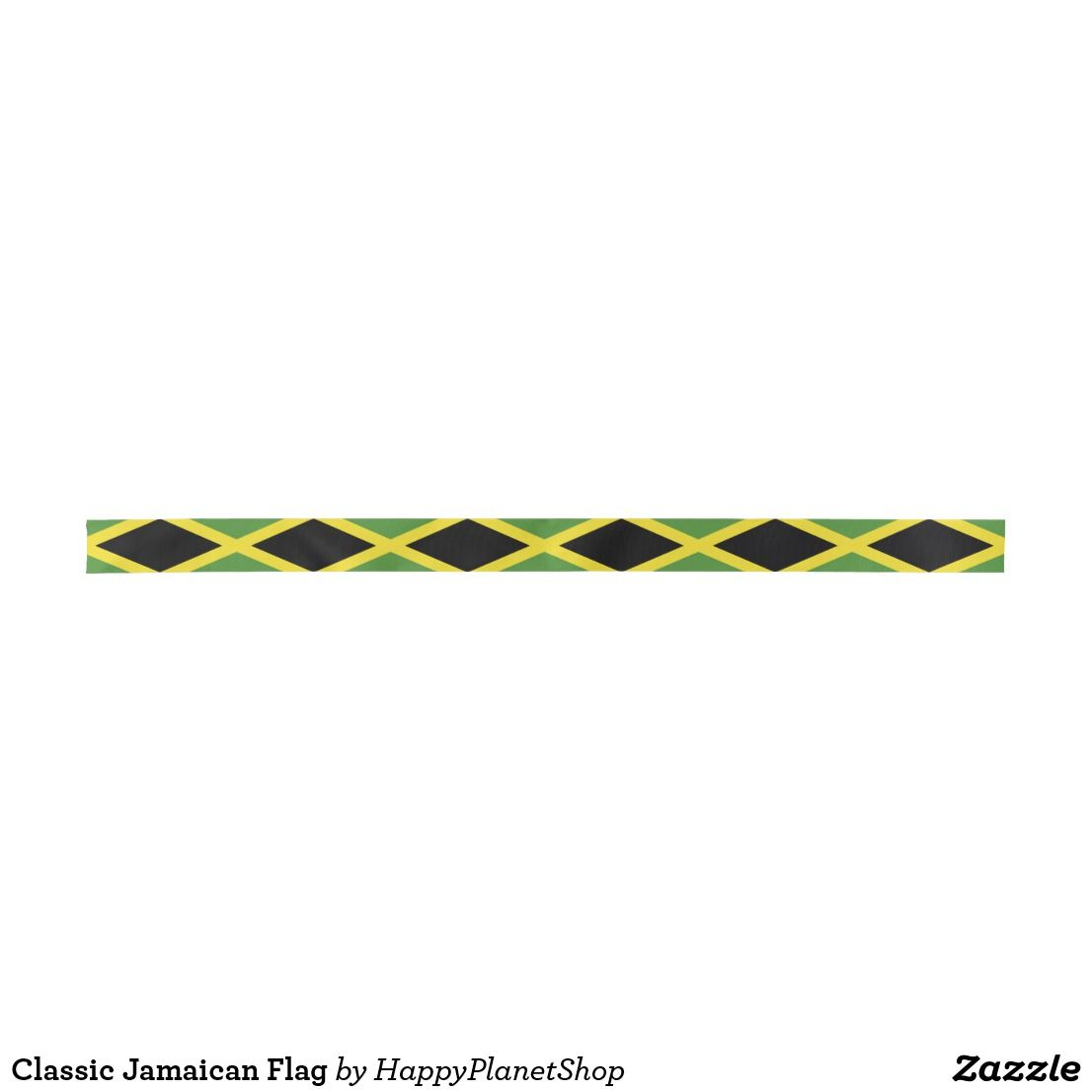 Classic Jamaican Flag Satin Ribbon | Favors and Weddings