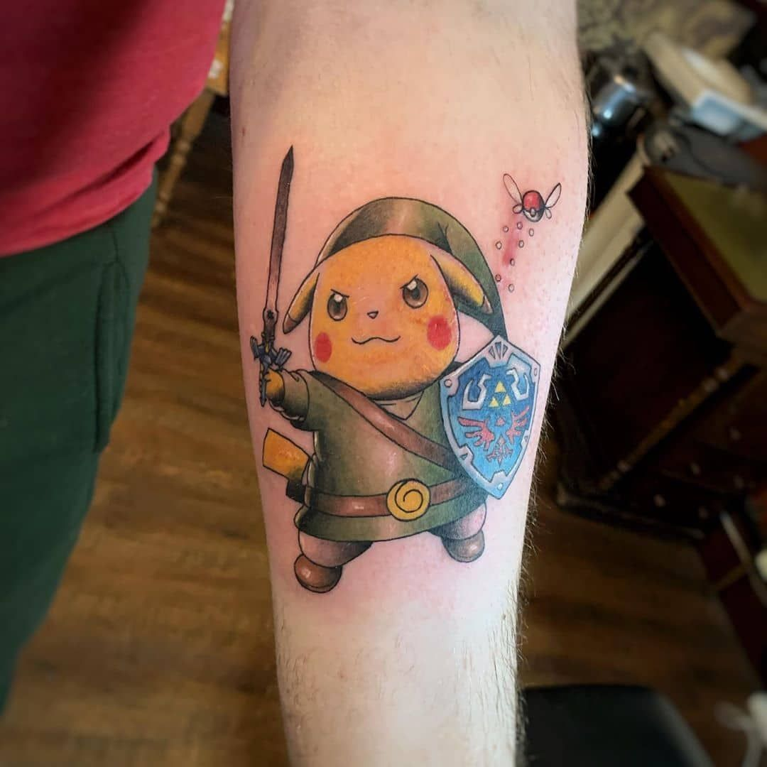 101 Awesome Pokemon Tattoo Designs You Need To See In 2020 Pokemon Tattoo Pikachu Tattoo Pokemon