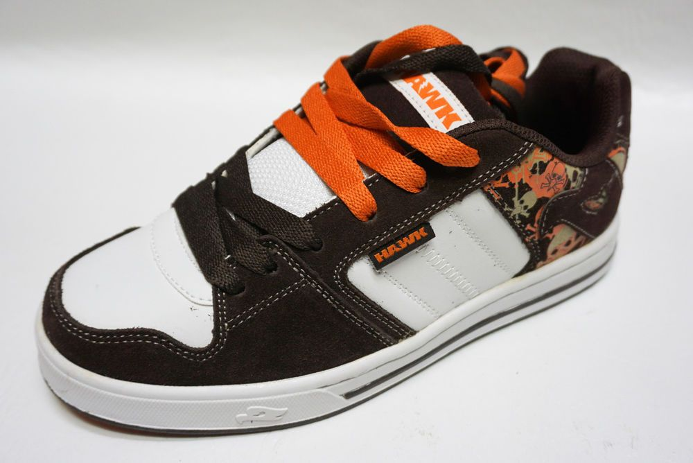 4bc1af73de33 Tony Hawk boys skate TWISTED BROWN Skulls and Bones leather sneakers shoes  6 NEW  TonyHawk  skateshoes