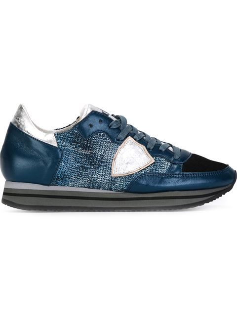 68f45e1c36b Shop Philippe Model sequin embellished sneakers in Spinnaker 101 from the  world s best independent boutiques at farfetch.com. Shop 300 boutiques at  one ...