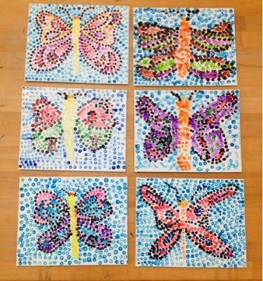 Pointillism Butterflies Grade 1 2 3 Art With Mr Giannetto Blog