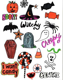 photo regarding Halloween Stickers Printable named No cost Printable Halloween Stickers printables Halloween