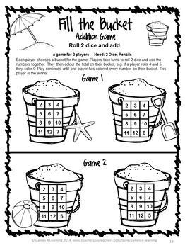 Maths Games Worksheets Printable