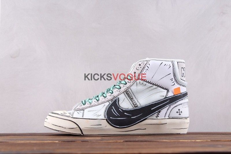 the latest d1538 7cf4c Surreal Anime Culture Sketch Nike Off White Blazer Studio Mid Hand-Painted  Custom