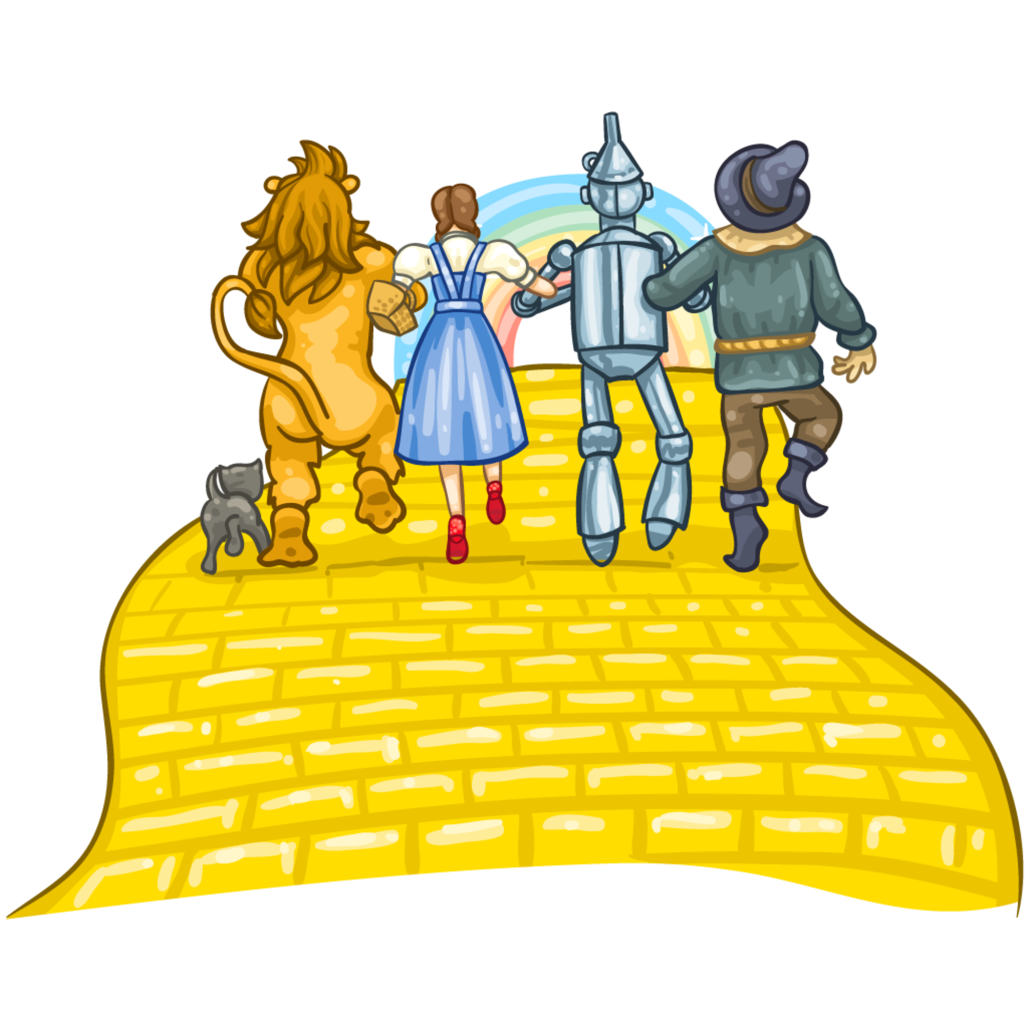 Wizard Of Oz Clipart Yellow Brick Road ... | Wizard of oz ...