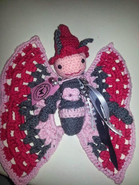 Melia Het Vlindermeisje Tutdoekje Haken Pinterest