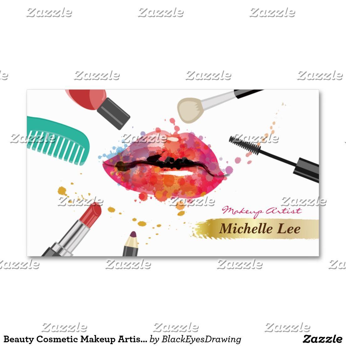 Create Your Own Profile Card Zazzle Com Makeup Artist Business Cards Makeup Artist Branding Makeup Artist Logo Design