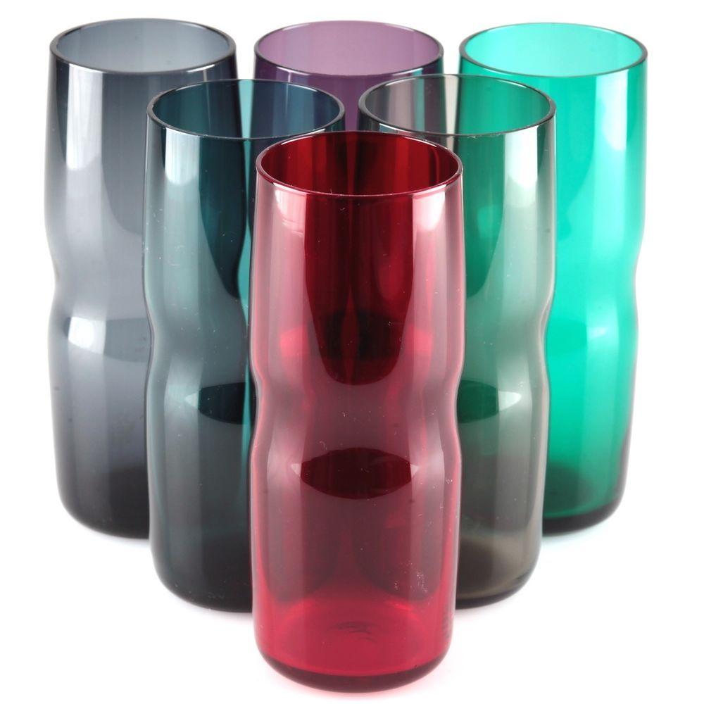 1 Vintage Sektglas blau Linsen Schliff DDR Harzkristall VEB Glaswerke Glas 60er