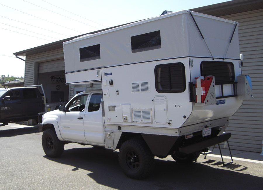 Fleet Flat Bed Model Four Wheel Campers Low Profile Light