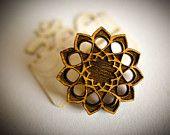 Sunflower Mandala   Lasercut Macro Pin