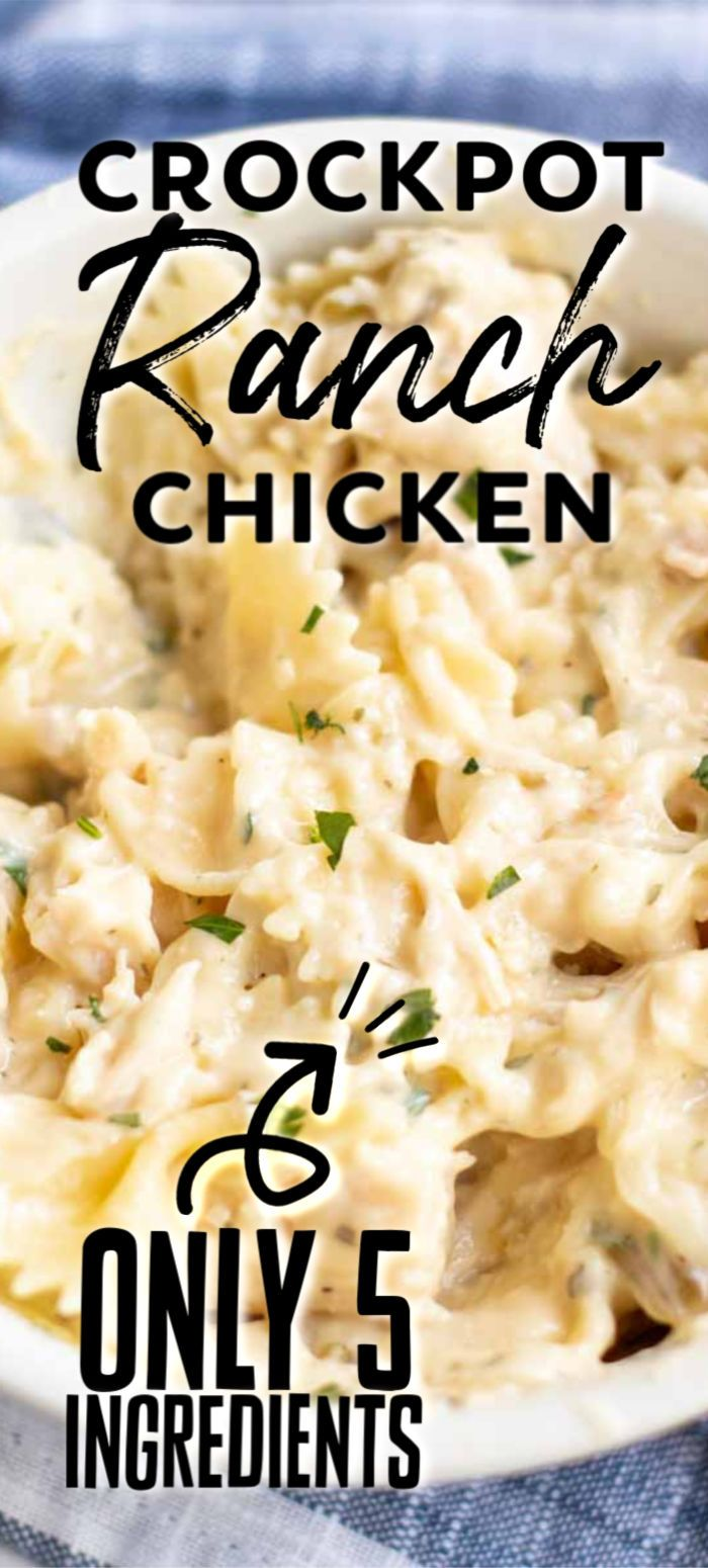 Creamy Ranch Slow Cooker Chicken » Persnickety Plates