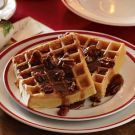 Spiced Brown Sugar Waffles, key is to separate egg whites and fold in at the end.
