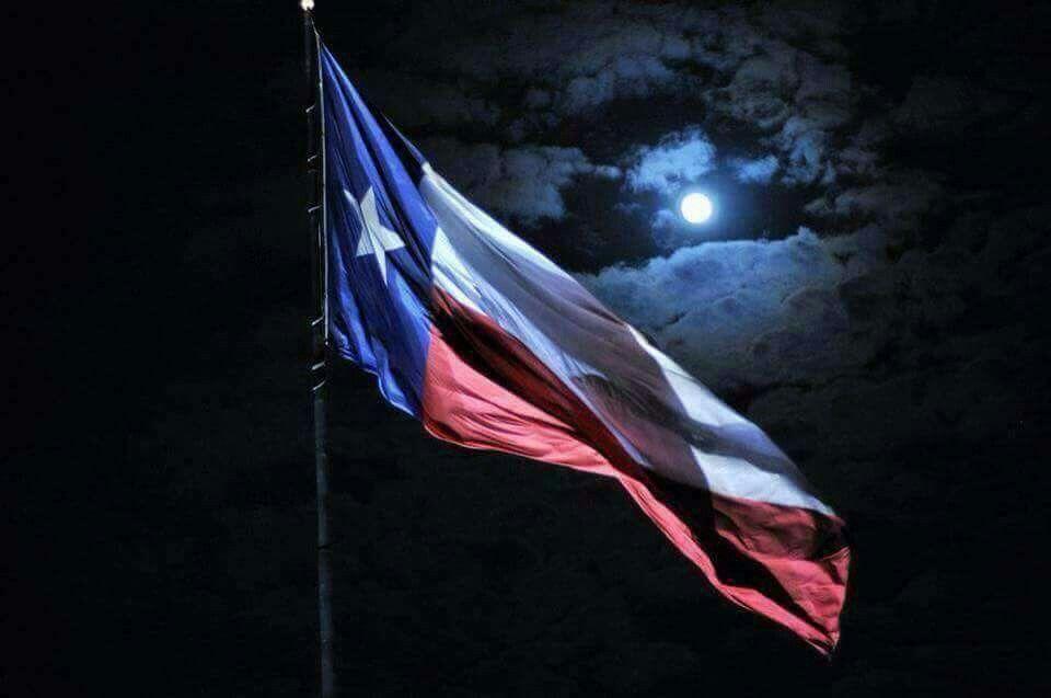 Texas Flag Waving In The Night Loving Texas Texas Republic Of Texas