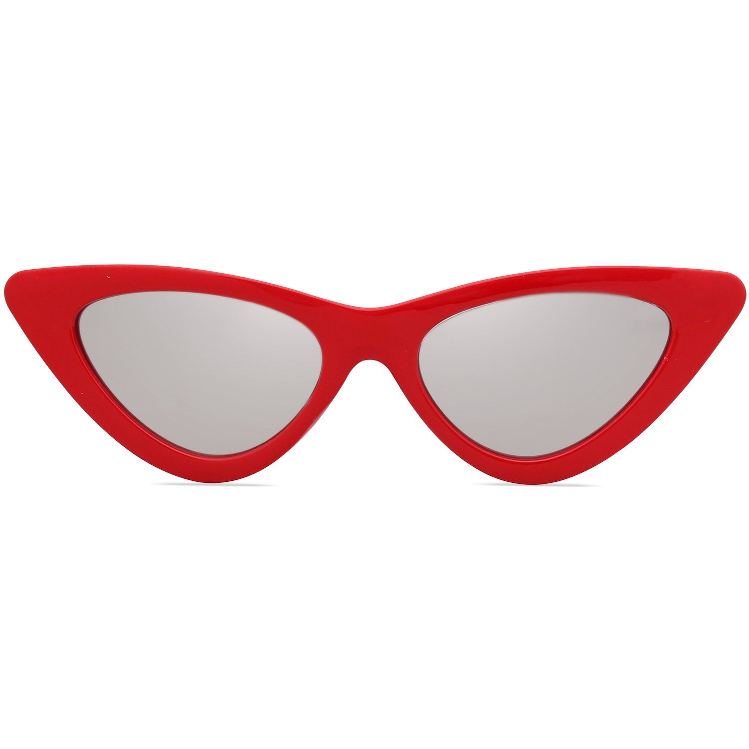 e8457064fc6fb SojoS Clout Goggles Cat Eye Sunglasses Vintage Mod Style Retro Kurt Cobain  Sunglasses SJ2044 with Red
