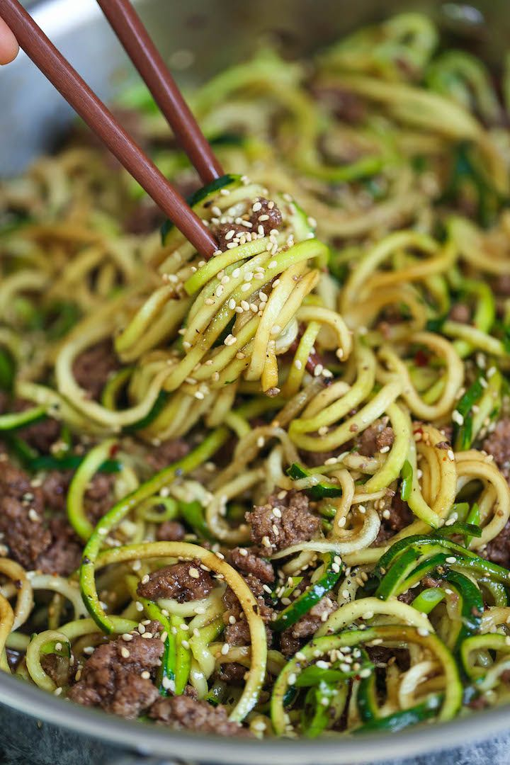 Photo of Korean Beef Zucchini Noodles – Damn Delicious