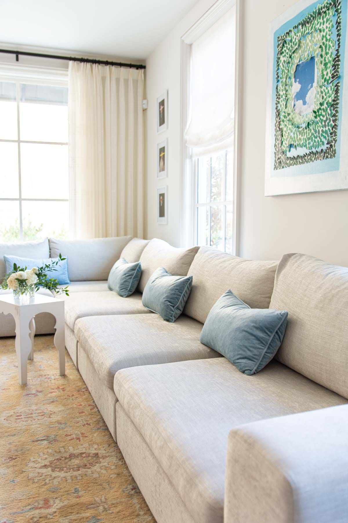 The Article Gaba Sofa Modular Sectional In My Living Room Thou Swell Living Room Design Decor Modular Sectional Family Room Design Small living room big sectional