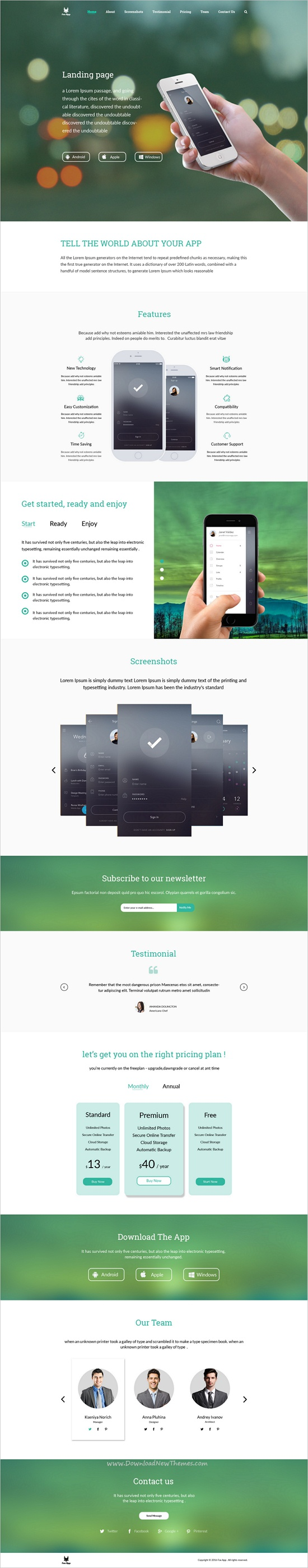 Fox app is light and dark design PSD template for