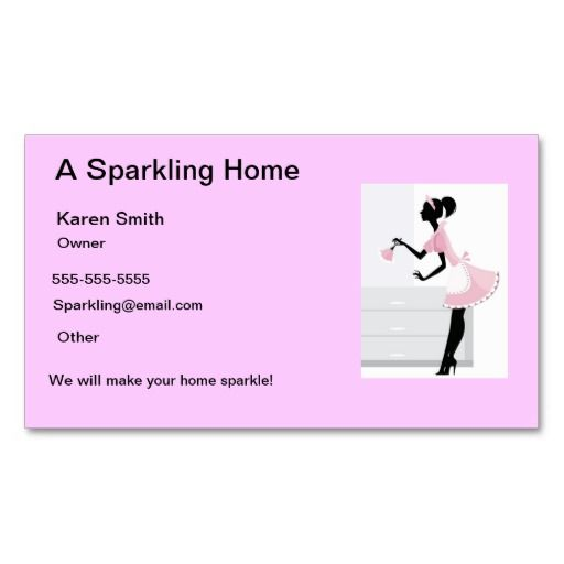 House cleaning business card pink maid lady estate agent business house cleaning business card pink maid lady wajeb Choice Image