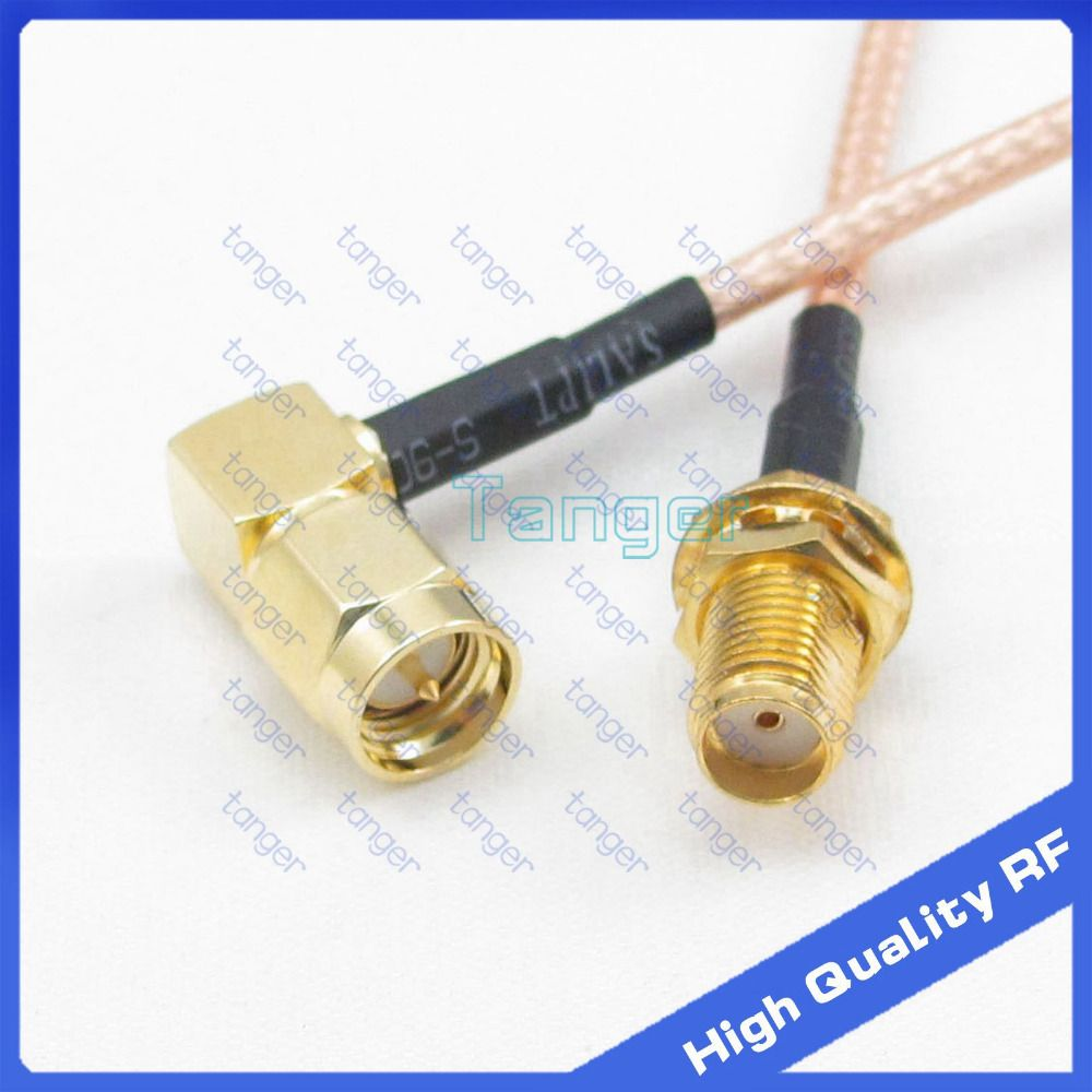Sma Male Plug Right Angle To Female Jack Straight Connector With 5mm Dc Power Solder End Connection For Cctv Cable 8inch 20cm Rf Rg316