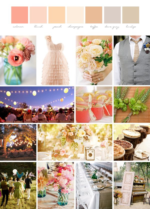 Diy whimsical and rustic wedding inspiration board for Diy wedding ideas for summer